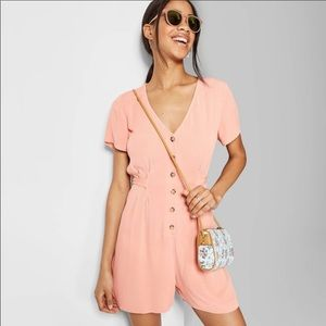 Wild Fable Romper Button up Front shorts XS